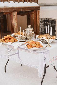 Романтичная свадьба Йенса и Екатерины в русском стиле. Традиционные пирожки! Classic russian style wedding