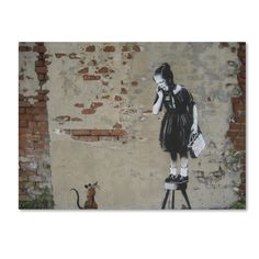 Banksy 'Ratgirl' Canvas Art