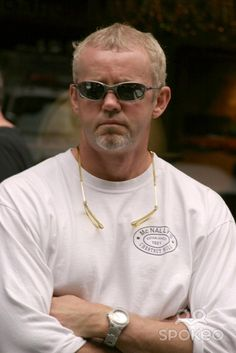 DAVID MORSE on set of his latest film ' 16 Blocks 'New York City, USA- 30.06.05