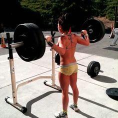 crossfitters:  Rita Benavidez:Snatch grip push jerk 5x3 at 165. I love these