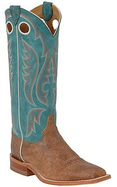 Justin® Bent Rail™ Men's Brown Mad Cow w/ Blue Top Square Toe Western Boot | Cavender's Boot City