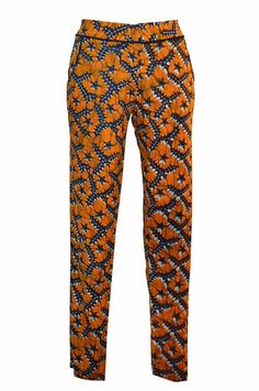 African wax Print pant, pencil summer high fashion on Etsy, $74.38