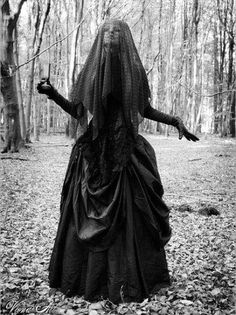 #witch #BW #forest