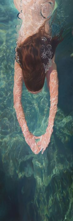 Summer Bubble Down | From a unique collection of figurative paintings at https://www.1stdibs.com/art/paintings/figurative-paintings/ Matt Story
