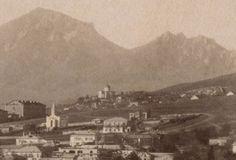 фрагмент фотографии Г. Раева с Лазаревским храмом и видом некрополя (около 1890 г.).