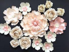 Paper flower MIX mini backdrop/Paper flower wall/Wedding Backdrop/Backdrop /Baby shower/Baby shower/Sweet table /Christening /Dessert table