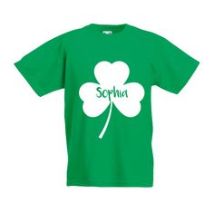 St patricks day shirt, kids st patricks, saint patricks day, clover shirt, irish luck shirt, personalized st patricks day tee, name shirt by KMLeonBE on Etsy