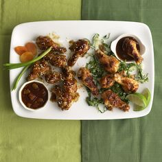 Thai Chicken Wings With Peanut Sauce