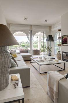 Mediterranean House Mediterranean Homes, Home Living Room, Living Spaces,  Living Area, Future