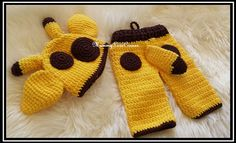 Newborn Crochet Baby Boy Giraffe Hat and Pants by MummyLoveCorner