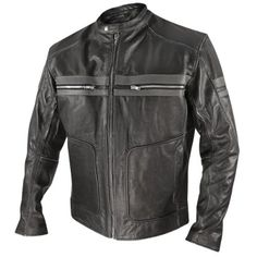 New Men Fashion Cowhide Handmade Biker Style fashion Leather Jacket with Stripes Black Leather Motorcycle Jacket, Motorcycle Jackets, Leather Men, Biker Leather, Leather Jackets, Combat Pants, Striped Jacket, Biker Style, Classic Man
