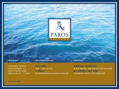 Paros. Delicious Greek food in a really fun atmosphere. Expect to see napkins flying and ouzo flowing.