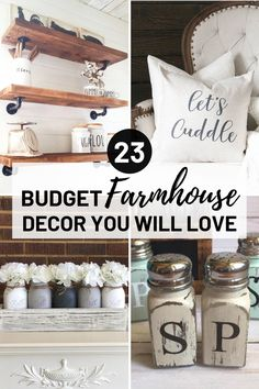 Cheap diy industrial decor for your farmhouse living room on a budget. Find out where to buy cheap rustic decor online and rustic home decor supplies for a bohemian farmhouse style look on a small budget! #interiordecorating