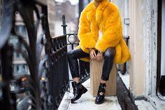 Manteau Fausse Fourrure Orange http://fr.pickture.com/                                                                                                                                                                                 Plus