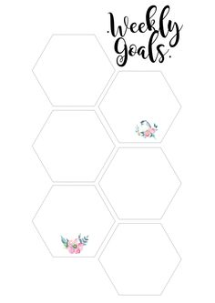 Weekly Goals & To Do List For Your Planner | Free Printable — the Pretty Peony