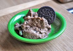 "Oreo banana ""ice cream"" by Omadsa - Vegan if you use the Newman-O's version of Oreos."
