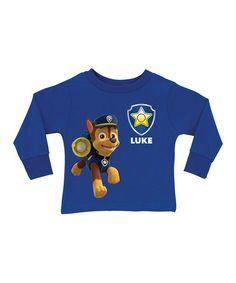 Love this Royal Blue PAW Patrol Chase Personalized Tee - Toddler & Boys on #zulily! #zulilyfinds