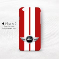 Mini Cooper Red Strip iPhone 6 Cover Case