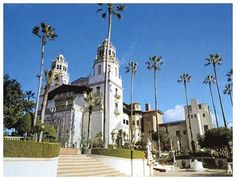 Hearst Castle in San Simeon, CA. Construction started in 1919  and took 3 decades with 165 rooms. William Randolph Hearst was an American newspaper tycoon, publisher, and philanthropist.
