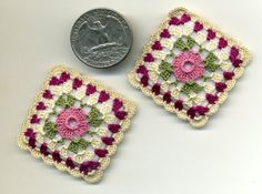 Dollhouse Miniature Square Pillows by BlackLeopardCreation