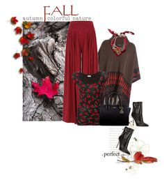 """""""Fall scarf"""" by noconfessions ❤ liked on Polyvore featuring Etro, Yves Saint Laurent, Hermès and Brian Atwood"""