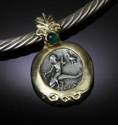 AR Nomos, Taras on Dolphin, 14kt Gold Pendant