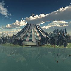 X SEED 4000 - The tallest building ever to be fully conceived and designed . It would stand 13000 feet and house an entire city Amazing Buildings, Amazing Architecture, Vertical City, Android Design, Futuristic Home, Tower Of Babel, World Of Tomorrow, Tower Building, Built Environment