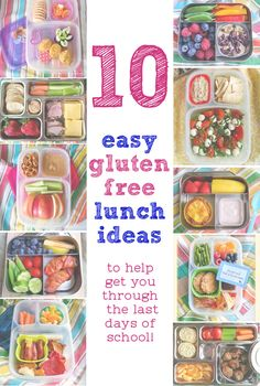 10 Gluten Free Lunch Ideas for Kids