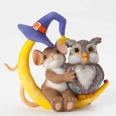 """Charming Tails """"You Make Halloween A Hoot"""" Figurine"""