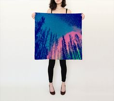 Night Stars Square Scarf found @ https://www.lonewolfboutique.com