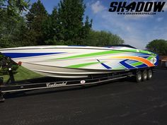 Summer fun boat wrap in 3M IJ180 & 8548 by Shadow Graphix, www.shadowgraphix.com Fast Boats, Speed Boats, Power Boats, Expensive Yachts, Offshore Boats, Boat Wraps, Yacht Boat, Fishing Life, Yacht Design
