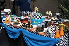 Hot Wheels Birthday Party Ideas | Photo 6 of 28 | Catch My Party Race Car Birthday, Cars Birthday Parties, Hot Wheels Birthday, 5th Birthday Party Ideas, 3rd Birthday, Monster Truck Party, Hot Wheels Party, Car Party, Ferrari