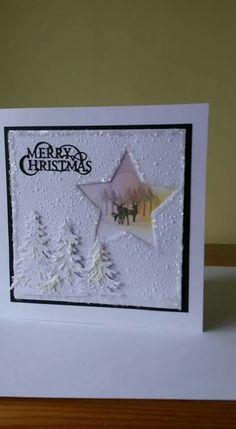 Best 11 Inkylicious Winter Cabin stap and Sue Wilson Winter trees Die on Craft Card. – SkillOfKing.Com