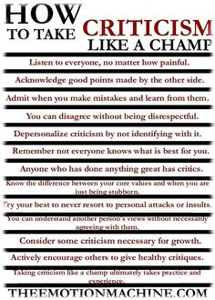 For those of you who need to learn to accept constructive criticism. For those of you who need to learn how to accept constructive criticism. The Words, Self Development, Personal Development, Leadership Development, Professional Development, Leadership Traits, Leadership Activities, Development Quotes, Leadership Quotes