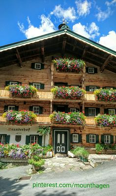 Branderhof, a beautiful old tyrolean farmhouse and the entrance point from the Wildpark in Aurach village, Austria