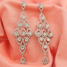 Silver Plated AD CZ Drop Dangle Traditional Bollywood Ethnic Jhumka Earrings #DesaiJewellers #DropDangle