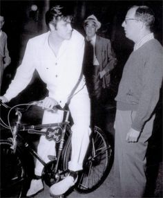 Elvis and his really cool bike