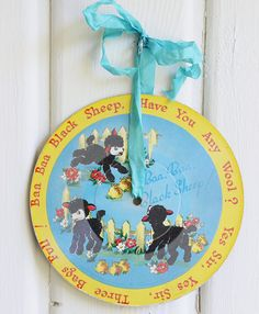 Your place to buy and sell all things handmade Sheep Nursery, Nursery Room, Nursery Rhymes, Vintage Nursery Decor, Baa Baa Black Sheep, Vintage Children, Baby Shower Gifts, Etsy, Vintage Kids