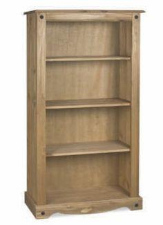 MADIUM BOOKCASE Solid Pine Furniture, Living Furniture, Pine Bookcase, Bookshelves, Small Living, Medium, Panama, Shelf, Home Decor