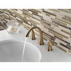 Delta Faucet 3538-CZMPU-DST Lahara Champagne Bronze Two Handle Widespread Bathroom Faucets |eFaucets.com