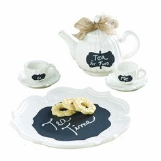 Mud Pie~ Chalkboard Tea Set – LilLambs Boutique