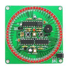 DIY Flash Light Kits 18 LEDs Heart-Shaped Red Flashing Electronic Parts Gift Je