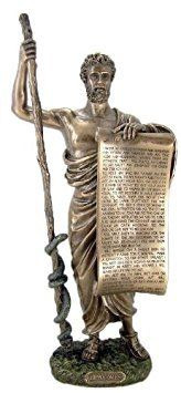 Hippocrates of Cos Holding Hippocratic Oath Physician Statue Sculpture Figurine