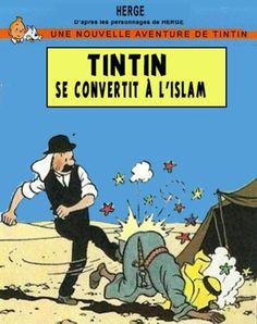 Les Aventures de Tintin - Album Imaginaire - Tintin se  convertit à l'Islam