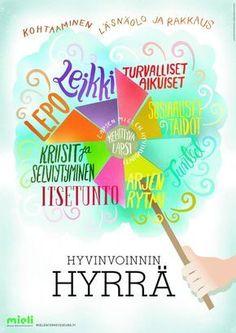 Hyvinvoinnin hyrrä | Suomen Mielenterveysseura Les Sentiments, Early Education, Quotes For Kids, Pre School, Law Of Attraction, Montessori, Kindergarten, Presentation, Mindfulness