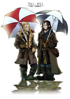 Fili & Kili -  those umbrellas again!