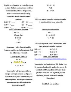 Just as you choose an appetizing entree from a restaurant menu, here are three menus with six activties for CCSS cluster 2.OA.1-4.  Use these menus as a tool for differentiating instruction.  Allow students at Complete Understanding to choose 1-3 activities during a 1-2 day math period so that you can pull a more intensive group of students at Developing Understanding and reteach or remediate.