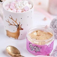 Its frosty  out and theres nothing we love more than hot chocolate with funfetti gookie dough to keep us warm  How do you keep warm? . .  @dizzybrunette3