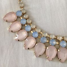 "Statement Necklace Great condition, beautiful pastels, can be dressed up or down! 19"" Jewelry Necklaces"