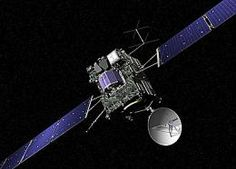 Rosetta is chasing comet 67P/Churyumov–Gerasimenko and, since its launch in 2004, has made three flybys of Earth and one of Mars to build up enough speed and get on a trajectory towards the comet. Because of Rosetta's vast distance – just over 807 million kilometres from Earth – it will take 45 minutes for the signal to reach the groun...